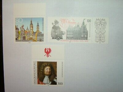 1995 GERMANY STAMPS SELECTION x 3 MINT NEVER HINGED (sg2613/22)
