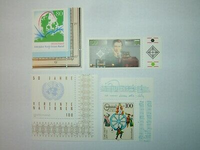1995 GERMANY STAMPS SELECTION WITH CNR MARGINS x 4 MINT NEVER HINGED sg2637/45