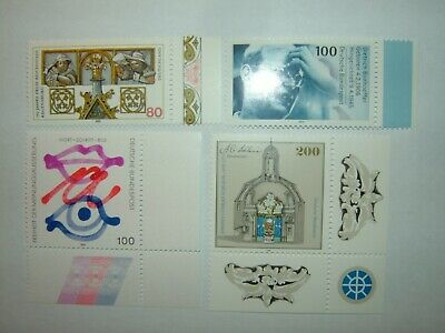 1995 GERMANY STAMPS SELECTION WITH MARGINS x 4 MINT NEVER HINGED (sg2627/30)