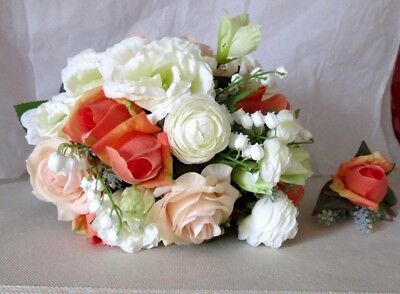 Bridal Bouquet and matching Button Hole
