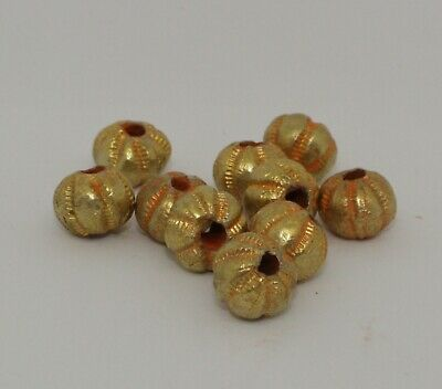 10 X Post Medieval Gold Beads - No Reserve 2111