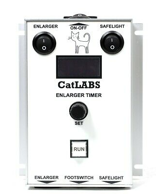 CatLABS Universal Digital Darkroom Timer (for any enlarger and safelight, CET01)