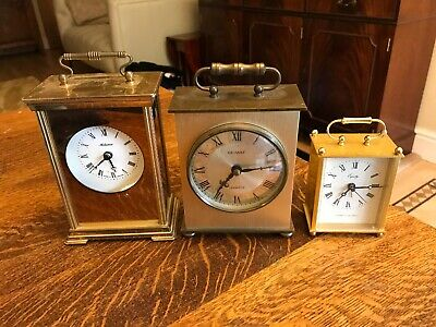 Vintage Carriage Mantel Clocks Metamec Equity Two Working See Description
