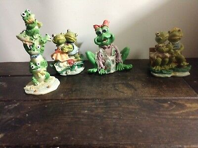 Frog Figurines Lot of 4