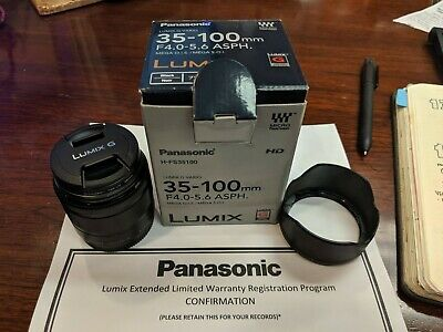 Panasonic Lumix G Vario 35-100mm f/4.0-5.6 Mega O.I.S Lens w/ Ext. Warranty