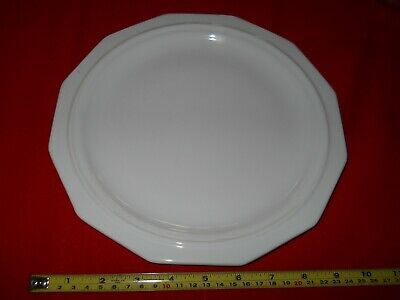 8 Large Dinner Plates Heritage White by Pfaltzgraff
