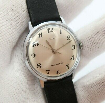 """TIMEX,Manual Wind,Ful-sized,Classic Round ,""""Silver Dial"""",N-Mint MEN'S WATCH,428"""