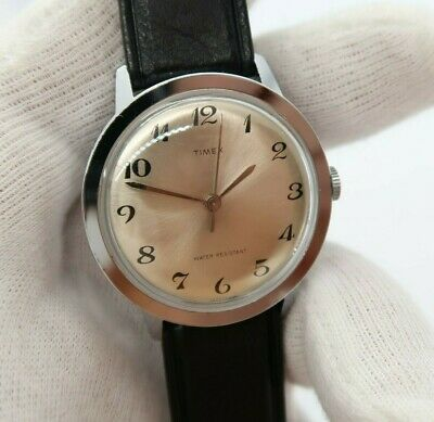 """TIMEX,Manual Wind,Ful-sized,Classic Round ,""""Silver Dial"""",N-Mint MEN'S WATCH,348"""