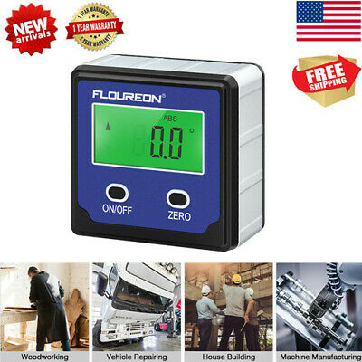 Hot Digital LCD Protractor Gauge Angle Finder Bevel Level Box Inclinometer Meter