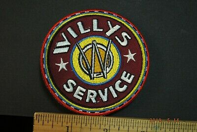 """Willys Jeep Service Embroidered Iron-on Patch 3.25"""""""
