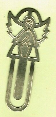 Silver Metal Tone Angel Bookmarker -- used