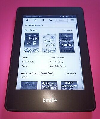AMAZON KINDLE PAPERWHITE EY21 5th Gen WiFi eBook Reader Black