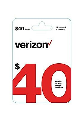 Verizon prepaid card $40 Refill card / Email delivery free and fast