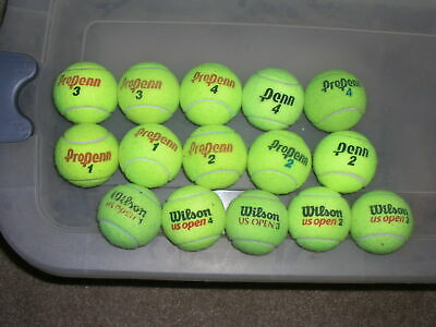 FIFTEEN Used Tennis Balls, Great for Practice, Pets, Chairs, Walkers and Tables!