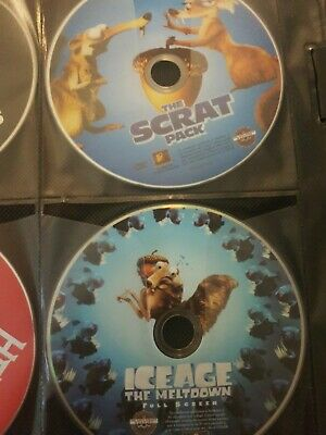 Lot of ICE AGE Series DVDs Discs Only