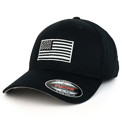 8236dc7745f85d USA American Flag Embroidered Iron On Patch Flexfit Cap Fits Upto XXL -  FREESHIP