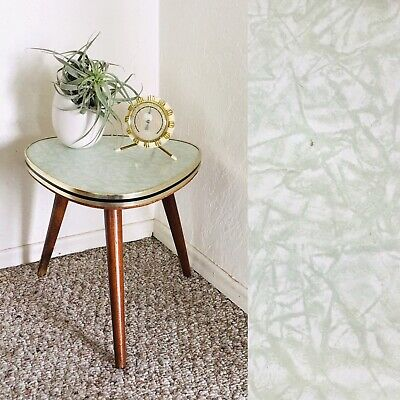 Tripod Mid Century Plant Stand Table Display Side Table Formica Vintage Green