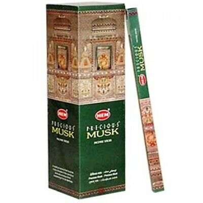 80 Incense Sticks - PRECIOUS MUSK - HEM BRAND - 10 Boxes x 8g Sticks