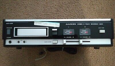 Lloyd's Stereo 8 Track Recorder Deck With Auto Stop Vintage Model # Y639W-07B