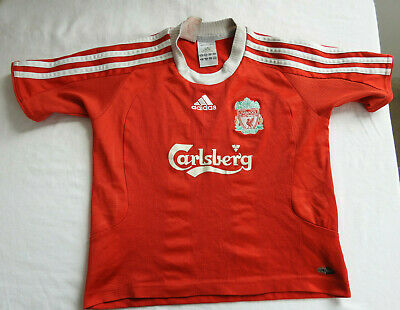 Liverpool FC 2008 - 2009 Home Jersey Adidas Shirt Size Children Boys M Red