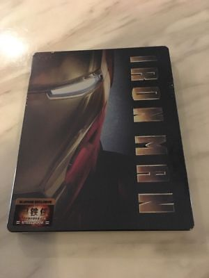 Iron Man Blufans Steelbook Collector Case Blu-ray (V1) Exclusive OOP/RARE NEW