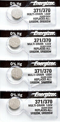 4 x Energizer 371 Watch Batteries, SR920SW or 370 Battery | Shipped from USA