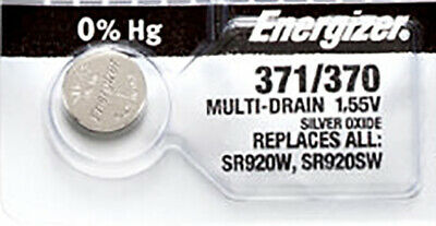 1 x Energizer 371 Watch Batteries, SR920SW or 370 Battery | Shipped from USA