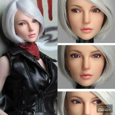 1/6 Scale SUPER DUCK SDDX01 C Movable Eye Female Head For Hot toys H#pale Phicen