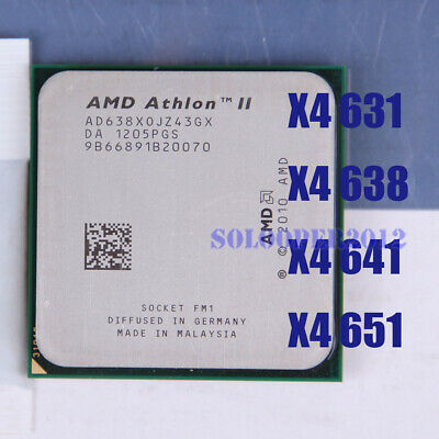 AMD Athlon II X4 631 X4 638 X4 641 X4 651 Socket FM1 CPU Processor