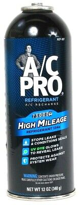 1 A/C Pro 12 Oz 134a High Mileage Stops Leaks & Conditions Refrigerant Recharge