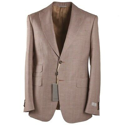 CANALI Slim-Fit Woven  Wool and Linen Suit with Peak Lapels 40 R NWT $2395