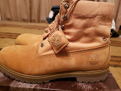 TIMBERLAND ROLL TOP Wheat Nubuck Boots Mens Size Uk10.5