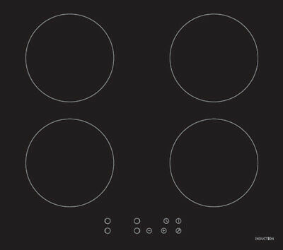 BRAND NEW: 60cm Electric Induction Cooktop - 4 burners + GLASS cook top!