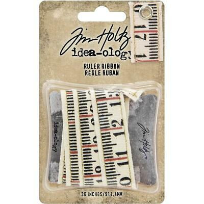 Tim Holtz Idea-ology 'RULER RIBBON' Embellishments Scrapbooking/Card Making
