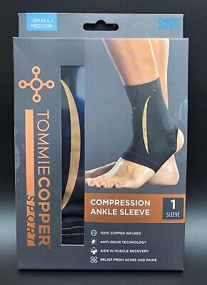 243cab7bb5 Tommie Copper Sport Men's Recovery Ankle Sleeve Small/Medium Black New