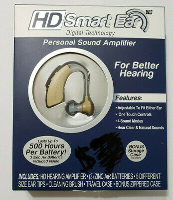 HD Smart Ear Personal Sound Amplifier - BRAND NEW Hearing Aid - FREE Shipping