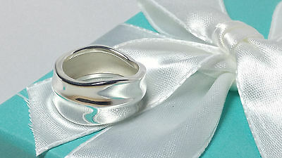 Tiffany & Co. Leaf Band Nature Ring Leaves  Flower Size 6 Sterling Silver 925