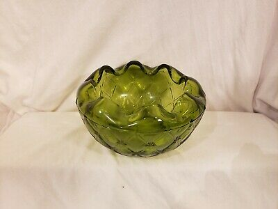 Vintage Emerald Green Depression Glass Candy Relish Dish