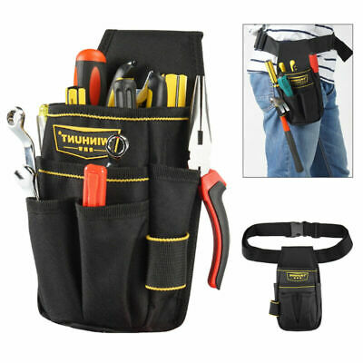 Black Electrician Tool Bag Waist Pocket Pouch Belt Storage Holder Maintenance