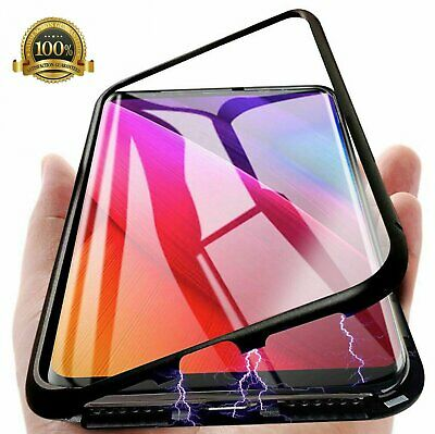 For Samsung S10/S10Plus Magnetic case Slim 360° Full Metal Tempered Glass Cover
