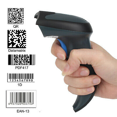 wireless/USB2.0 Wired 1D QR PDF417 Data Matrix Bar Code Scanner Cordless Reader
