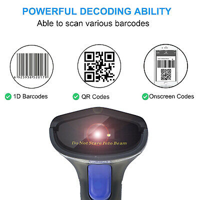 2D Bluetooth Wireless Barcode Scanner USB 2.4G Wireless Bluetooth Barcode Reader