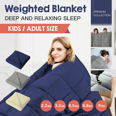 2.2/3.2/4.5/6.8/ 9KG Microfibre Weighted Blanket Heavy Gravity Kids Adult Size