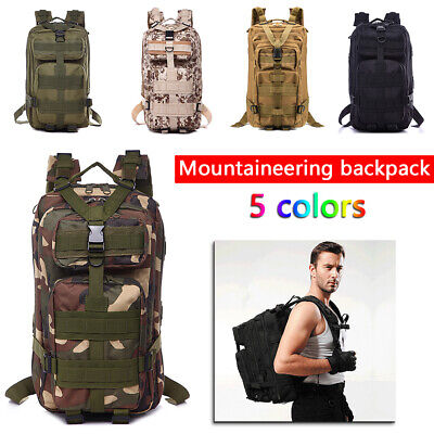 Military Tactical Army Backpack Rucksack Camping Hiking Trekking Bag Outdoor UK