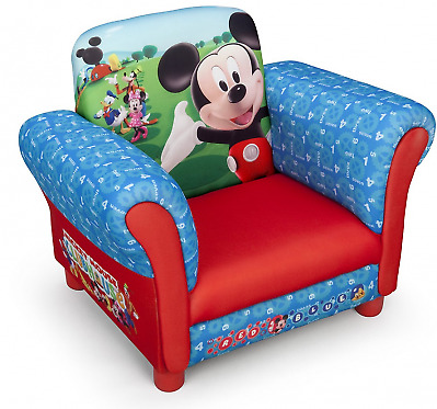 Delta Children Mickey Mouse Upholstered Chair, Kids Arm Chair