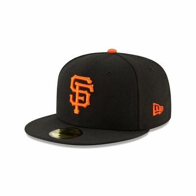 new photos 9ee59 77e6f New Era San Francisco Giants MLB Authentic Collection 59FIFTY On Field Cap  Black