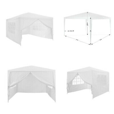 3 x 3m 120g Waterproof Outdoor PE Garden Gazebo Marquee Canopy Party Tent New