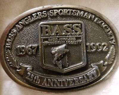 BASS 25th Anniversary belt buckle
