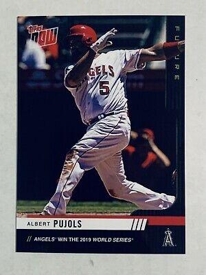 2019 Topps NOW Chrome Futures World Series Albert Pujols Angels 20 Card Set #/25