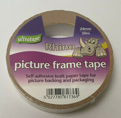 Ultratape Rhino Kraft Picture Frame Sealing Tape various widths and packs